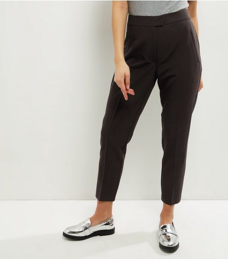 Petite Black Slim Leg Suit Trousers | New Look