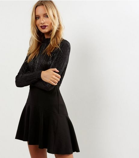 Black Dip Hem Mini Skirt | New Look