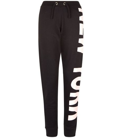 Teens Black New York Print Joggers | New Look