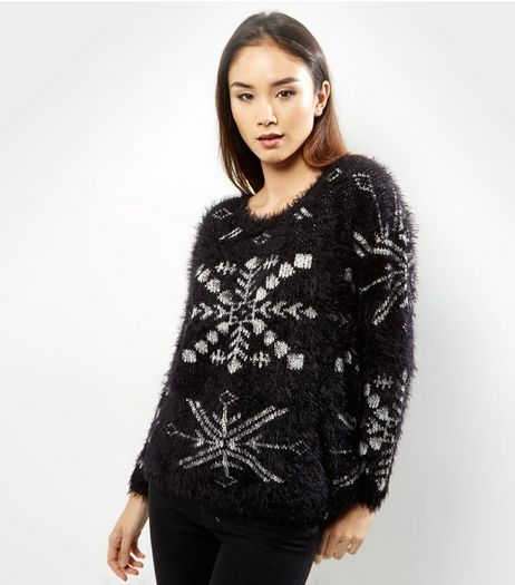 Apricot Black Christmas Snowflake Jumper | New Look