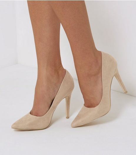 Mink Brown Suedette Pointed Court Shoes | New Look