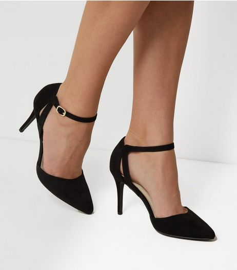 Black Comfort Pointed Heels | New Look