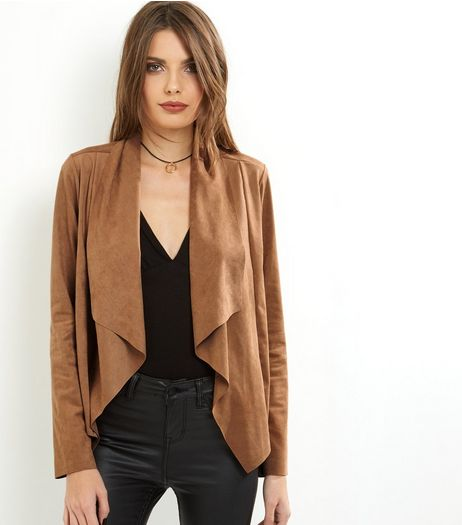Loving This Camel Seudette Waterfall Jacket  | New Look