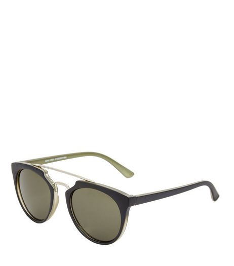 Black T-Bar Sunglasses | New Look