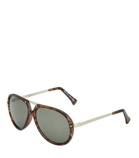 Brown Tortoiseshell T-Bar Sunglasses | New Look
