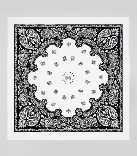 White Paisley Print Bandana | New Look