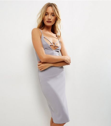 Lilac Ring Trim Strappy Bodycon Dress  | New Look