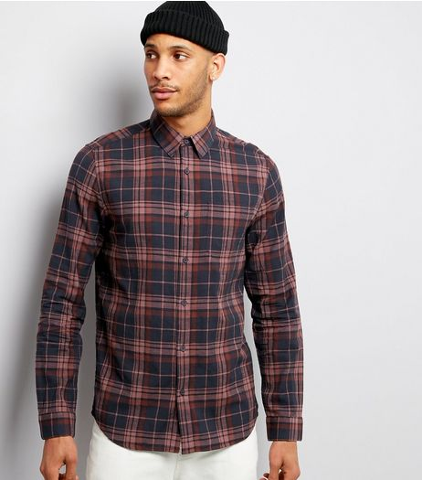 Pink Check Long Sleeve Shirt  | New Look