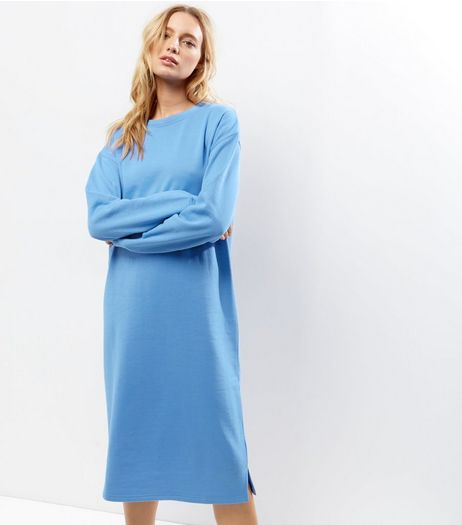 Blue Longline Sweater  | New Look