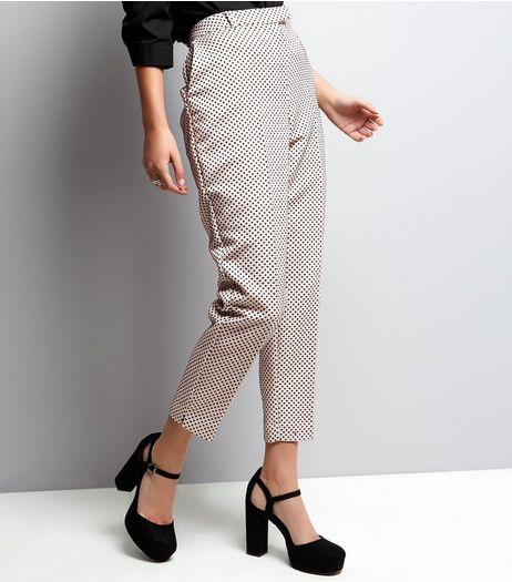 Pink Geo Print Jacquard Slim Leg Trousers  | New Look