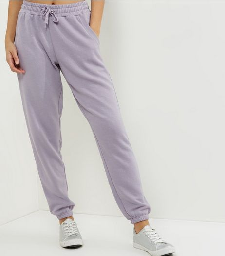 Lilac Tie Waist Joggers | New Look