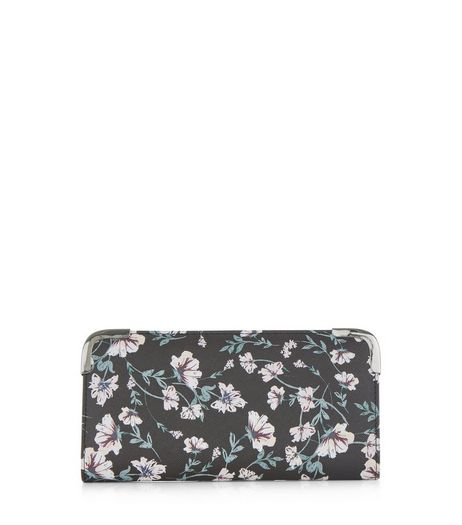 Black Ditsy Floral Print Purse | New Look