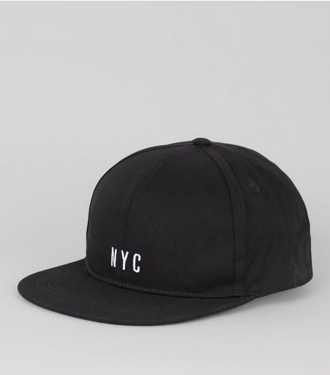 Black NYC Embroidered Cap | New Look