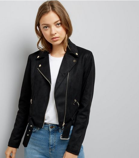 Black Suedette Jacket  | New Look