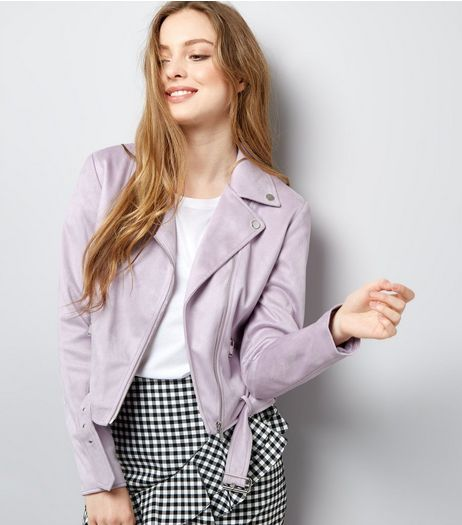 Lilac Suedette Jacket | New Look