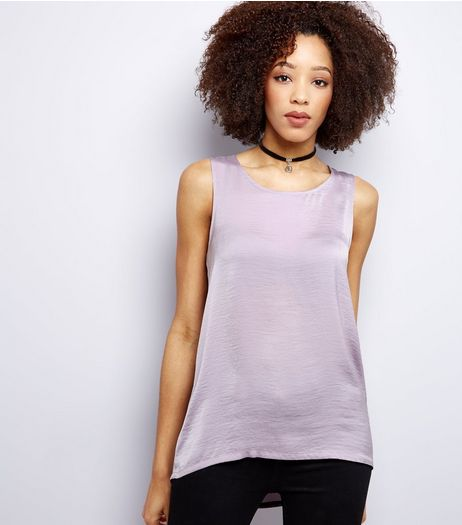 Lilac Sateen Vest  | New Look