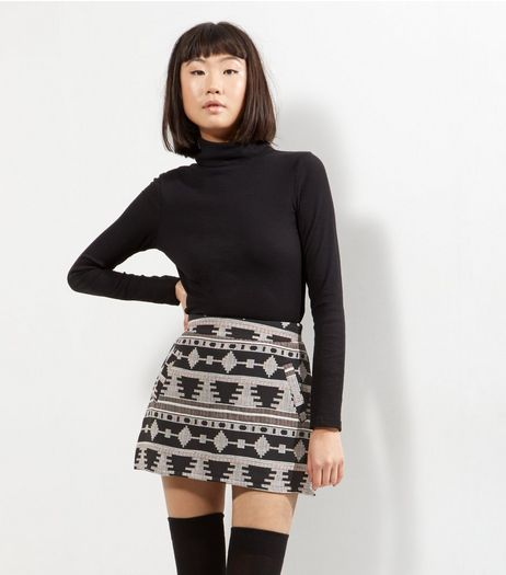 Cameo Rose Aztec Print Skirt  | New Look