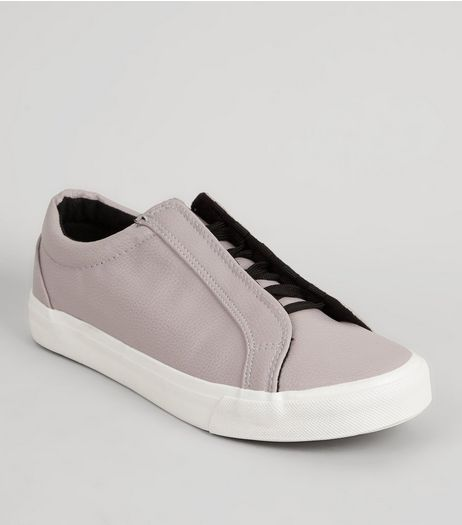 Lilac Lace-Up Trainers | New Look