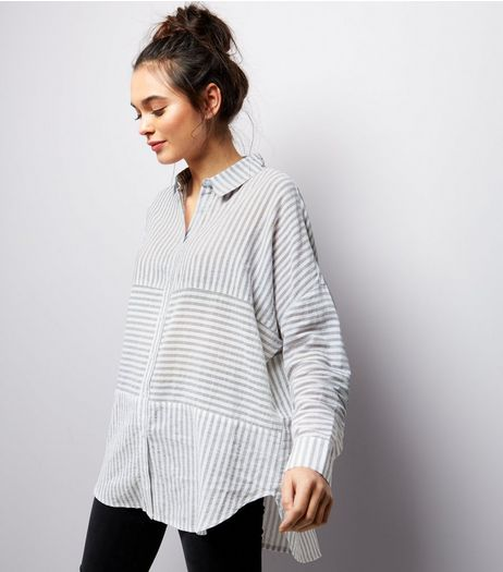 White Contrast Stripe Shirt | New Look