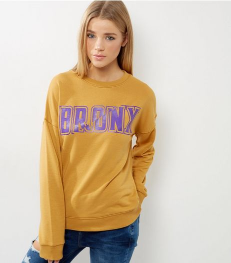 Yellow Bronx Sweater | New Look