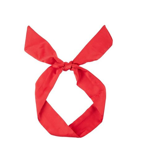 Red Sateen Neck Tie | New Look