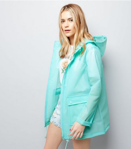 Mint Green Transparent Anorak  | New Look