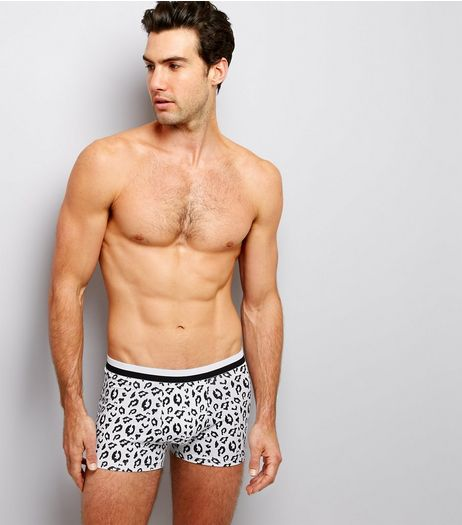 3 Pack Black Leopard Print Trunks | New Look
