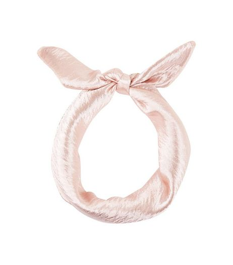 Candy Pink Sateen Bandana | New Look