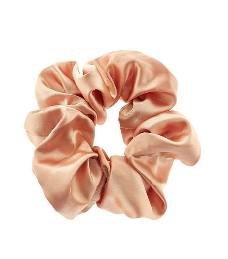 Pink Sateen Scrunchie | New Look