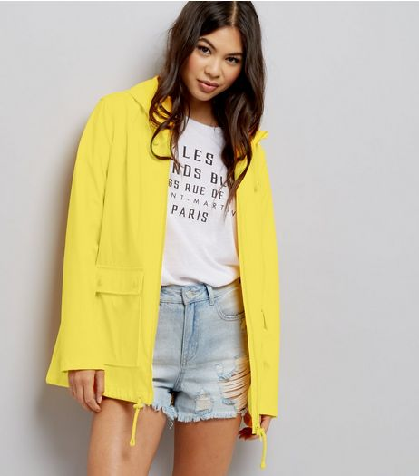 Yellow Matte Anorak | New Look