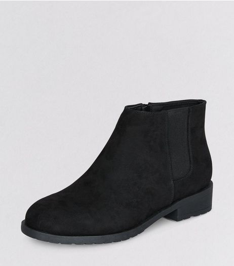Teens Black Suedette Chelsea Boots | New Look
