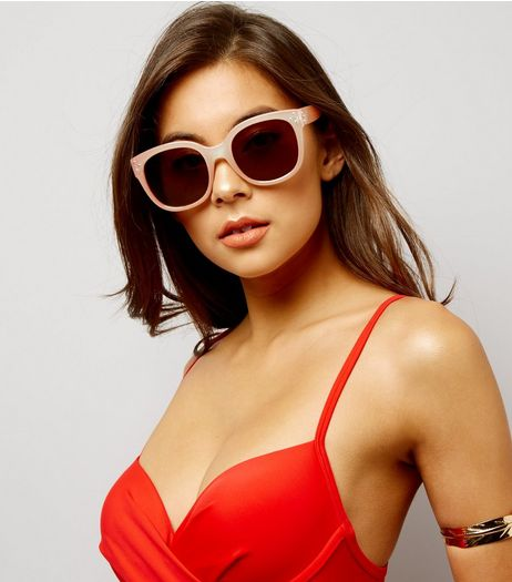 Mink Retro Sunglasses | New Look