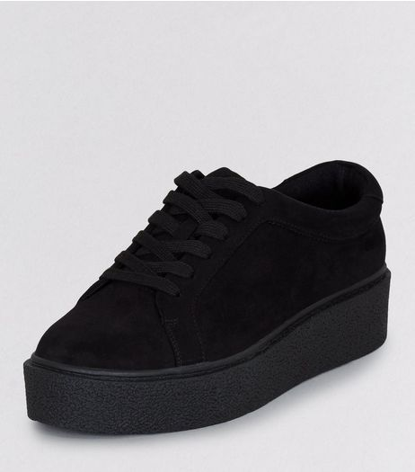 Teens Black Suedette Creepers | New Look