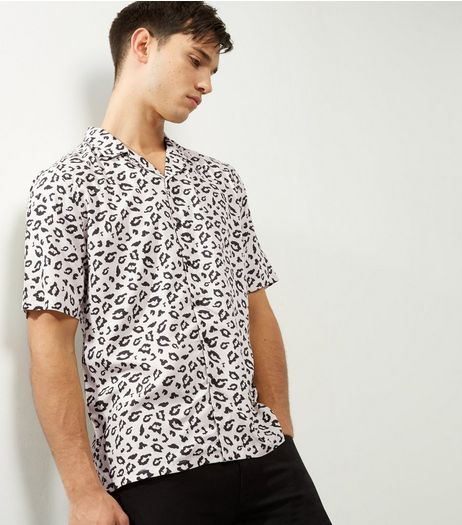 Black Animal Print Short Sleeve Shirt | New Look