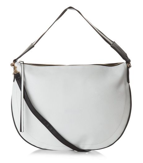 White Contrast Stripe Strap Tote Bag | New Look