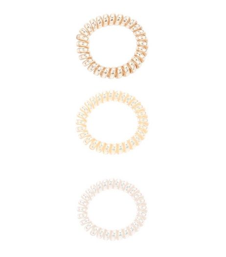 3 Pack Clear Irridesecent Spiral Bobbles | New Look