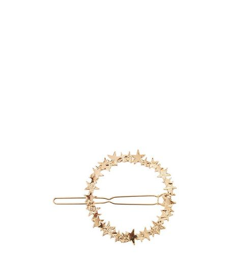 Gold Star Open Circle Hair Slide | New Look