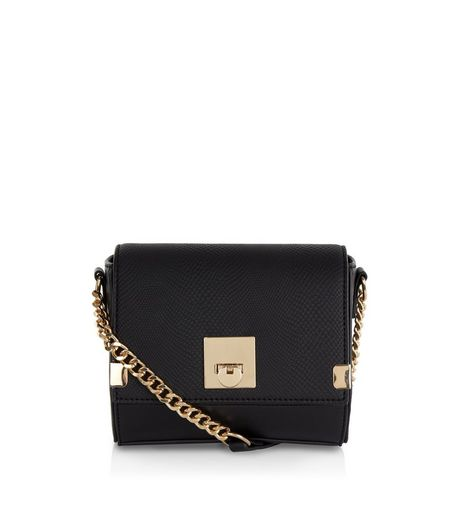 Black Textured Mini Cross Body Bag | New Look