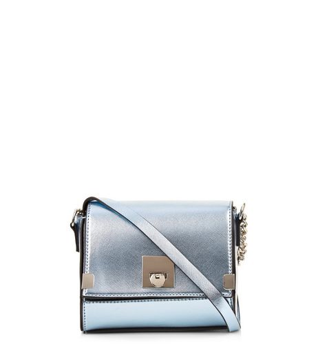 Blue Metallic Cross Body Box Bag | New Look