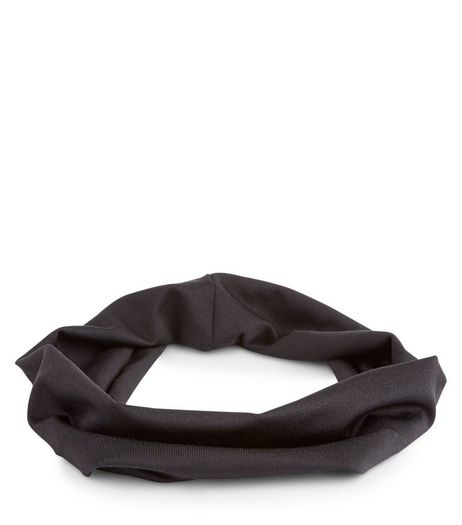Black Stretch Headband | New Look