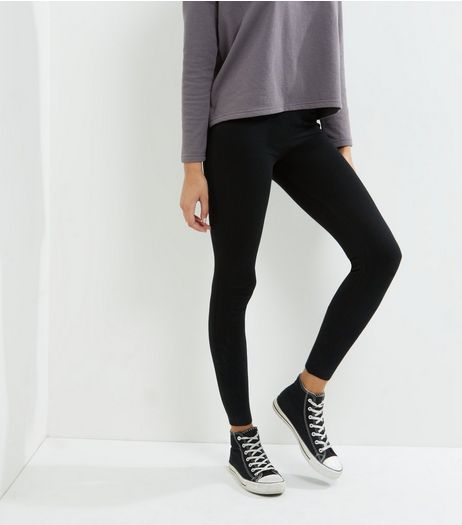 Blue Vanilla Black Cuffed Leggings | New Look