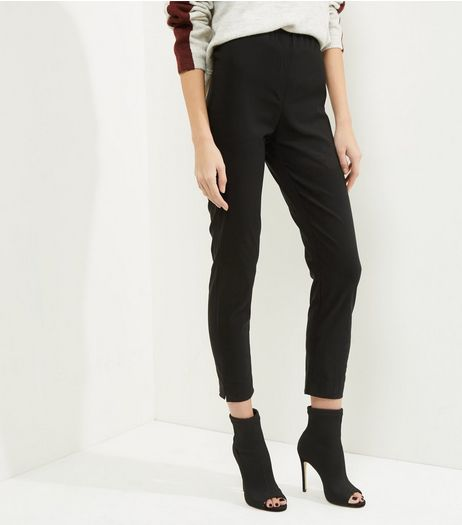 Apricot Black Elasticated Waist Trousers  | New Look