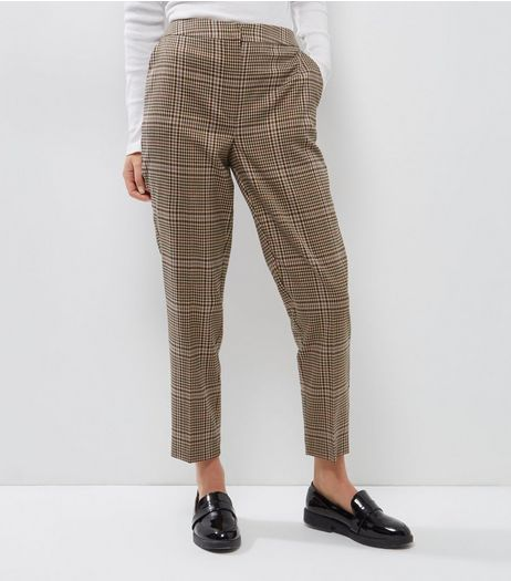 Brown Check Print Trousers | New Look