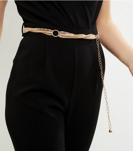 Gold Twisted Chain Waist Belt | New Look