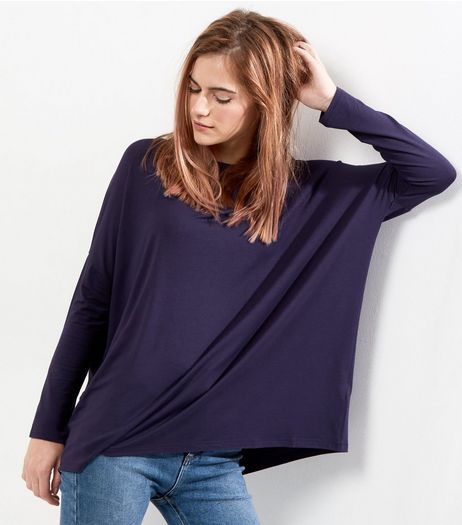 Navy Long Sleeve Jumper  | New Look