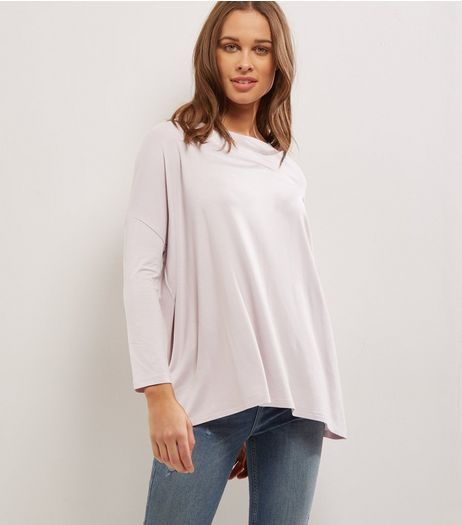 Lilac Long Sleeve Jumper  | New Look