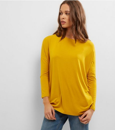 Yellow Long Sleeve Jumper  | New Look