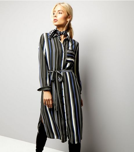 Blue Stripe Midi Shirt Dress | New Look
