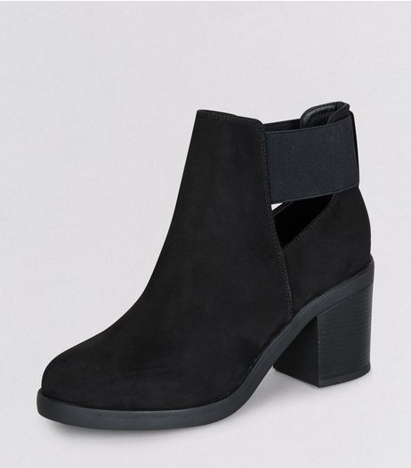 Teens Black Suedette Elasticated Side Boots | New Look