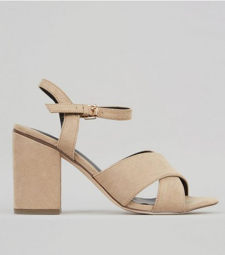 Mink Cross Strap Heels | New Look
